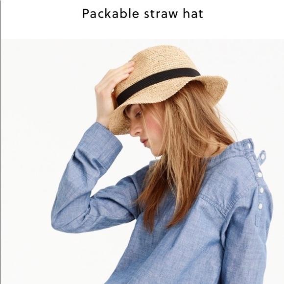 36fe3fd2 J. Crew Accessories | J Crew Packable Straw Hat | Poshmark